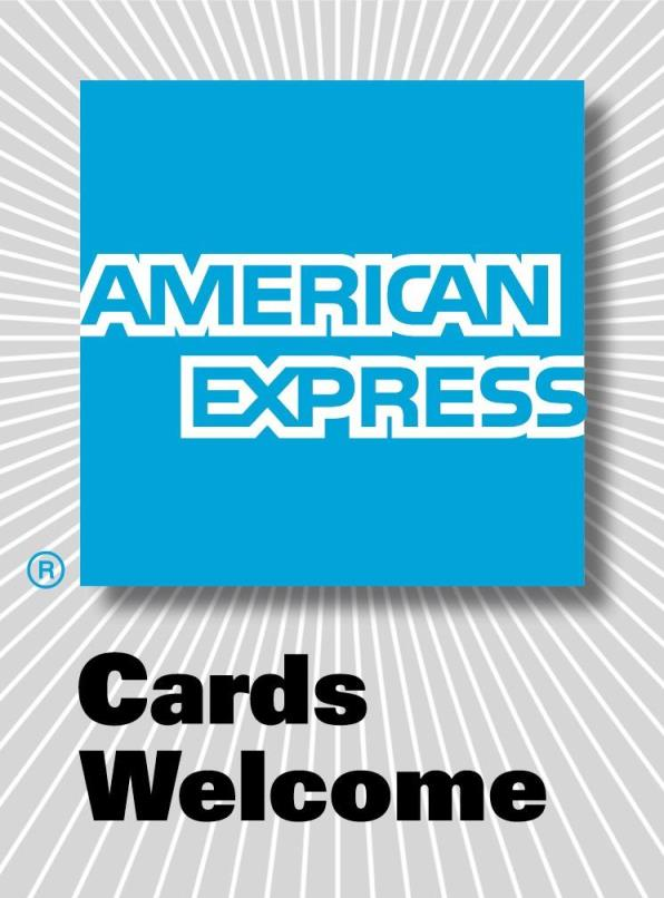 AMEX Cards accepted here.