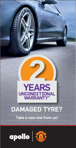 Apollo Tyres 2 Years UnConditional Warranty