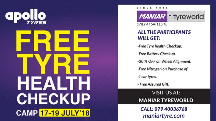 free tyre and battery checkup camp